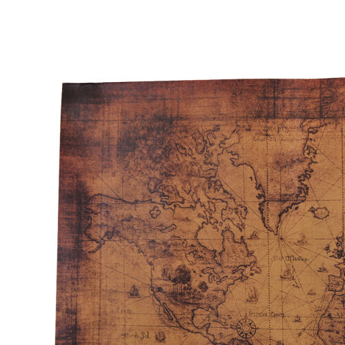 Large Vintage Style Retro Paper Poster Globe Old World Map Gifts 72x51cm FBHK