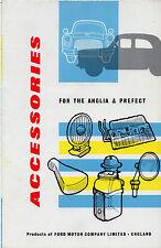 Ford Anglia & Prefect 100E Accessories 1959 UK Market Foldout Sales Brochure