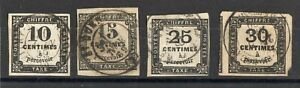 Humble France: Serie De 4 Timbres-taxes Oblit N°2/6 Cote: 260,00 €