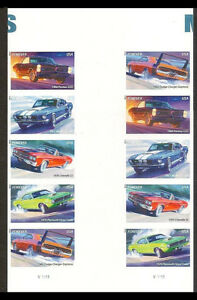 US 4747b Muscle Cars imperf NDC gutter block 10 MNH 2013