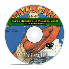 Super Hero, Villains, Vol 8, Wonder, Startling Comics, Golden Age Comics DVD D73