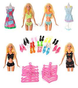 21 Pièces De Robes Poupée Barbie Vêtements Sous-vêtements Bikini's Chaussures Bundle Lot 1-afficher Le Titre D'origine