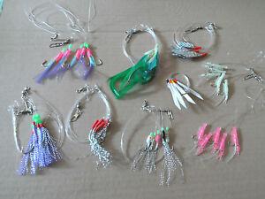 mackerel feathers 3 packs of coloured mackerel feathers free p/&p