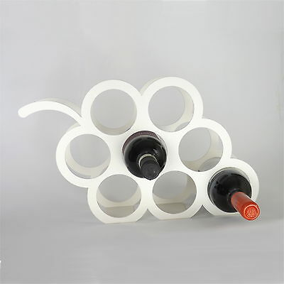Designer Grape Wine Rack in Ivory WITH 8 BOTTLE CAPACITY by THE METAL HOUSE