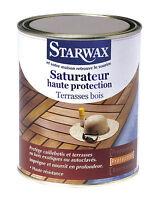 Starwax Saturateur Haute Protection Terrasses Bois Incolore 1 Litre Ref 341