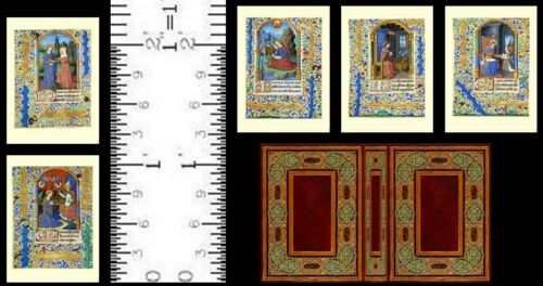 1:12 SCALE MINIATURE  BOOK FRENCH BOOK OF HOURS 1485