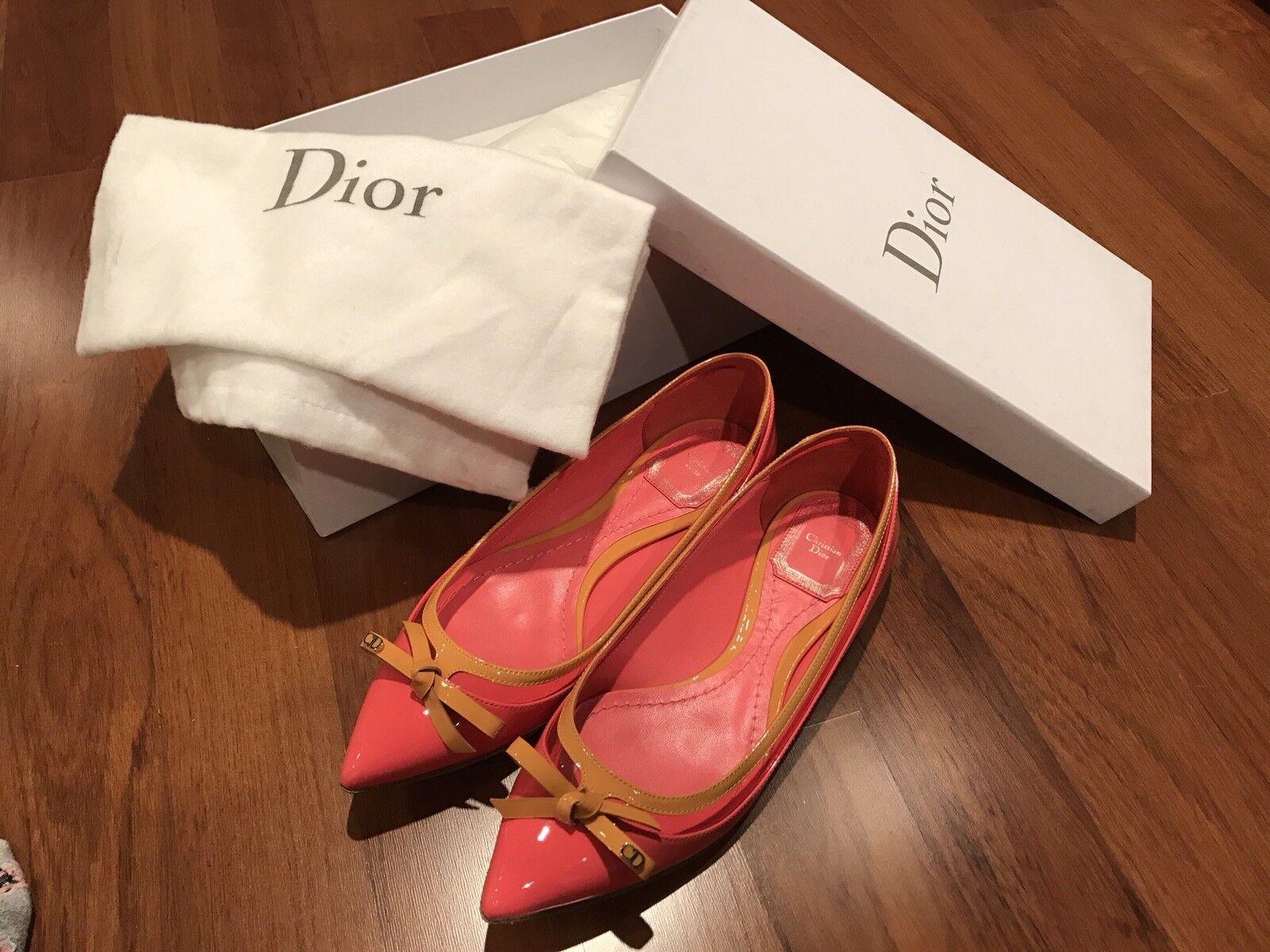 New Christian Dior flat ballerina chaussures, Taille EU EU EU 36.5 f297bc