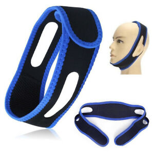 Blue Snore Stop Belt Snoring Cpap Chin Strap Anti Sleep Apnea Jaw Solution TMJ 6942096121976