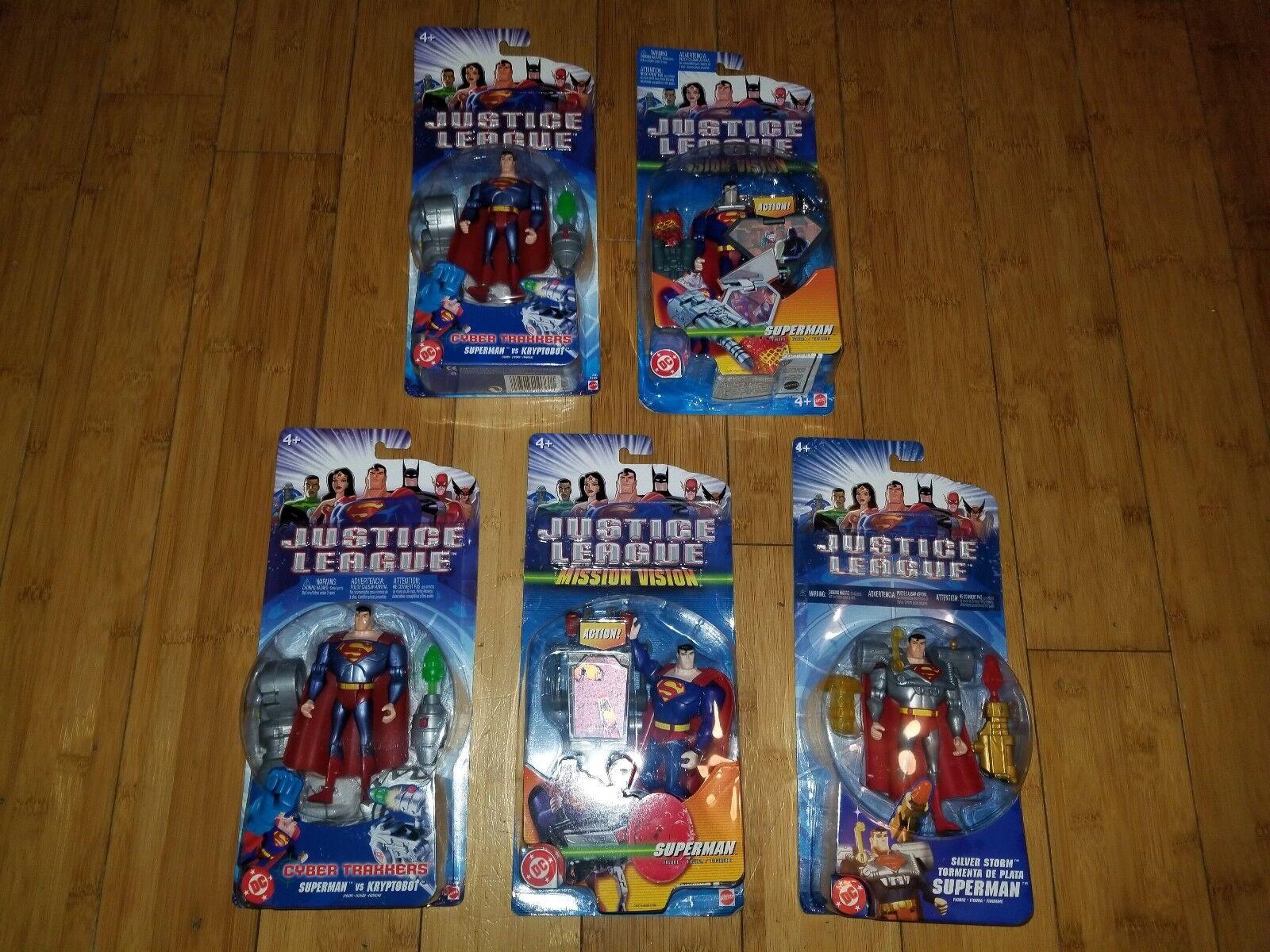 DC Justice League SUPERMAN Action Figure Lot of 5  JLU Mattel All New 1H