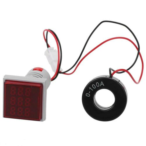 3 in 1 LED Digital Multi Voltmeter Amperemeter Strom Spannung Frequenz Messgerät