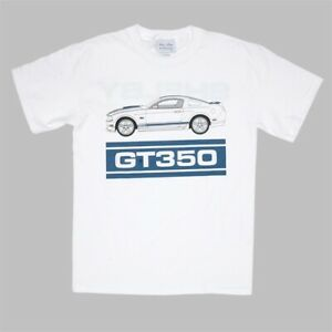 Shelby-GT350-2011-Launch-T-Shirt-XL-Original-Shelby-NOS-Blue-Graphics
