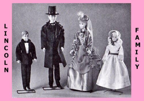 "11 1//2/"" DOLL BARBIE /& Ken 5 Family/'s Fabric Sewing Pattern ANITA/'S Vintage U-PIC"