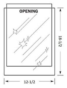 12-1/2 x 18-1/2 inch MYLAR Sleeve(s) 4mil no flap
