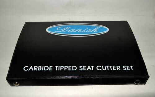 12x HIGH CARBON STEEL VALVE SEAT CUTTER 1 CARBIDE TIPPED HARD SEAT CUTTER