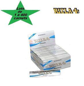 Rizla-Micron-Slim-lot-de-1-a-400-carnets-de-feuilles-a-rouler