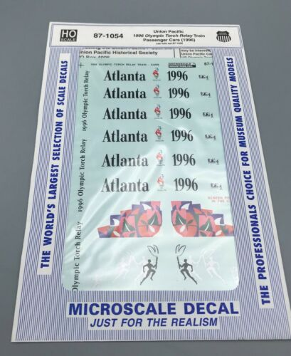 HO Mircoscale Decals #87-1054 Union Pacific 1996 Olympic Torch Relay Train