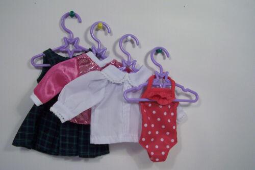 """10 LAVENDER Star Doll Clothes Hangers For Dianna Effner 13/"""" Little Darling Debs"""