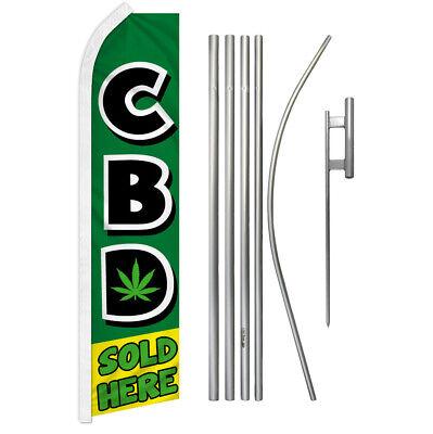"/""CBD SOLD HERE/"" super flag swooper oil"
