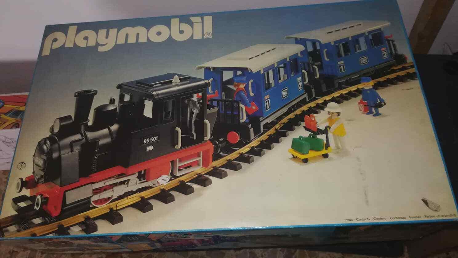 Playmobil  4000 treno a vapore mai giocato MIB unplayed