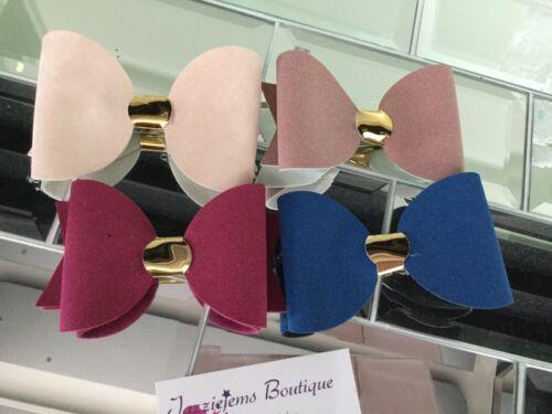 """Chunky Felt Boutique Mirror Sparkle Hair Bow Clip Clips Headband 4"""" Jazziejems"""