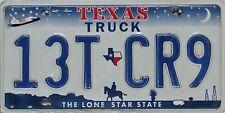 Texas  License Plate, Original  Nummernschild  USA  13T CR9  ORIGINALBILD