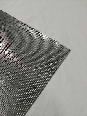 """Perforated Metal Aluminum Sheet .062 1//16/"""" 24/"""" x 36/""""  3//4/"""" hole 1/"""" Stagger"""