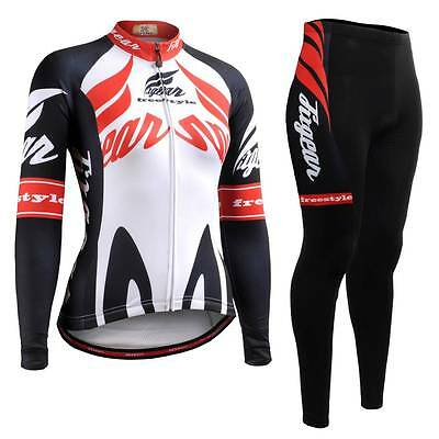 FIXGEAR CS-W1201-SET Women's Cycling Jersey & Padded Pants MTB Bike BMX Roadbike