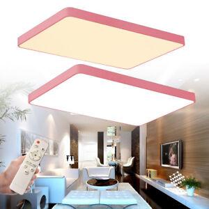 Acryl-Dimmbar-48W-Deckenleuchte-LED-Deckenlampe-Kueche-Badlampe-Farbwechsel-Rosa