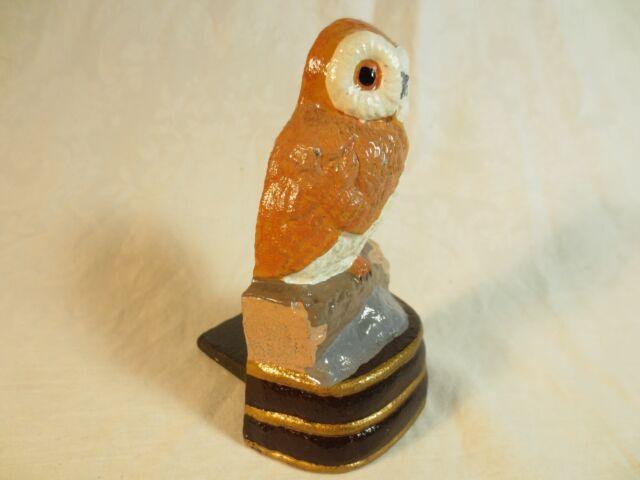 Cast Iron Door Stop Hand Painted Owl Door Wedge Door Wedge Cast Iron Door Wedge Owl