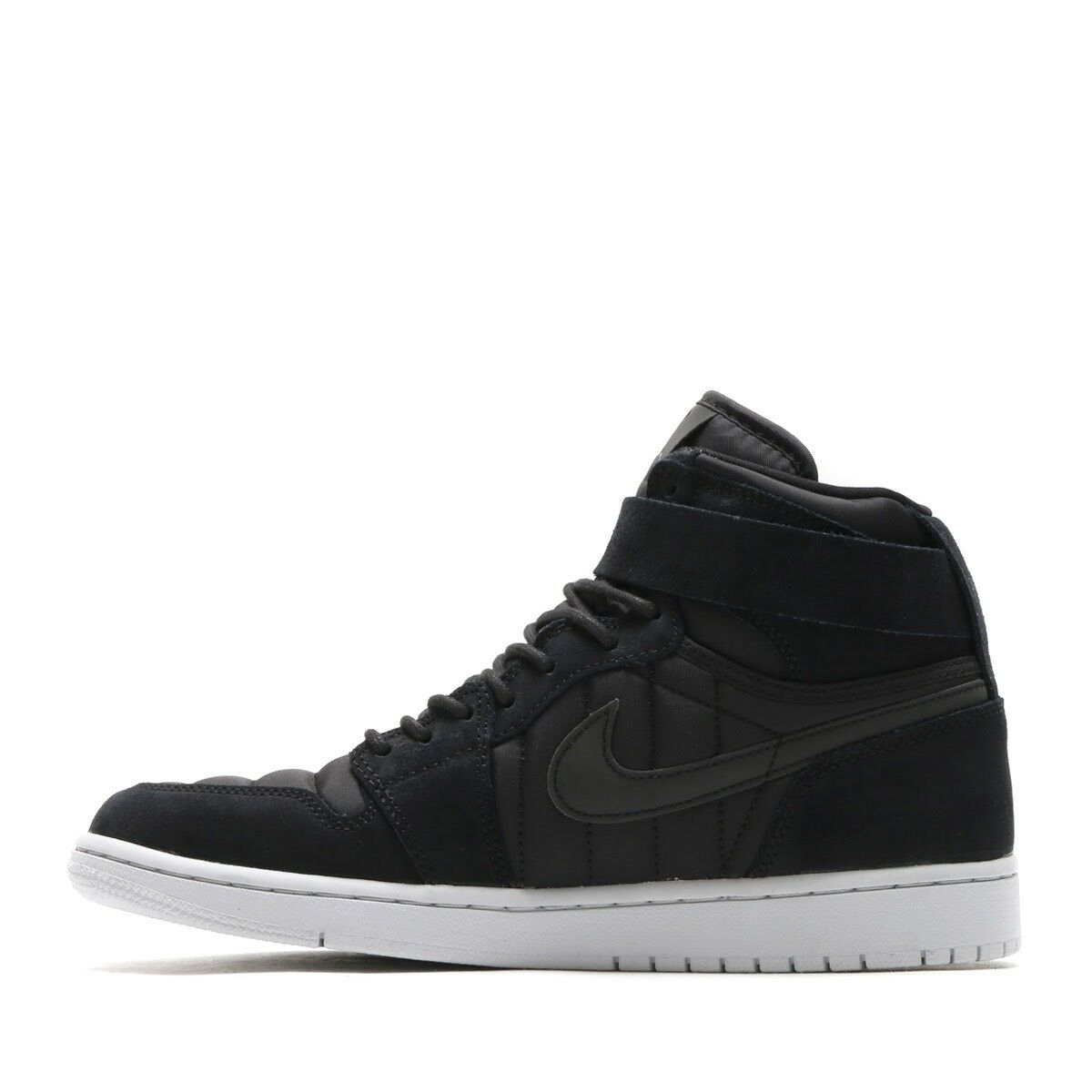 Nike Men Air Jordan 1 High Strap Sneakers Black 342132-004 US7-11 04'