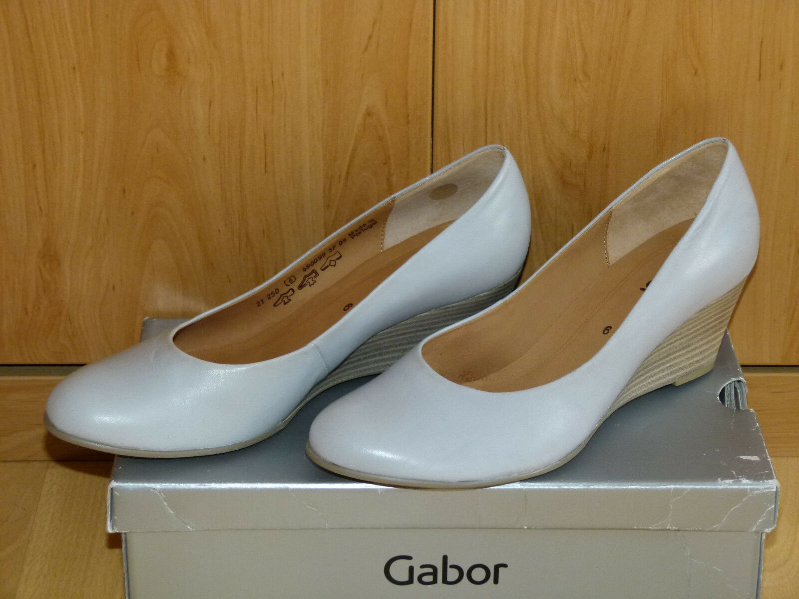 Gabor Pumps, Keilpumps, Leder, Gr. 39