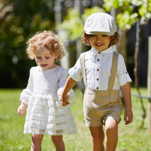 Toddler Kids Baby Boys Outfit Clothing Shirt+Shorts Pants Gentleman Party Suit