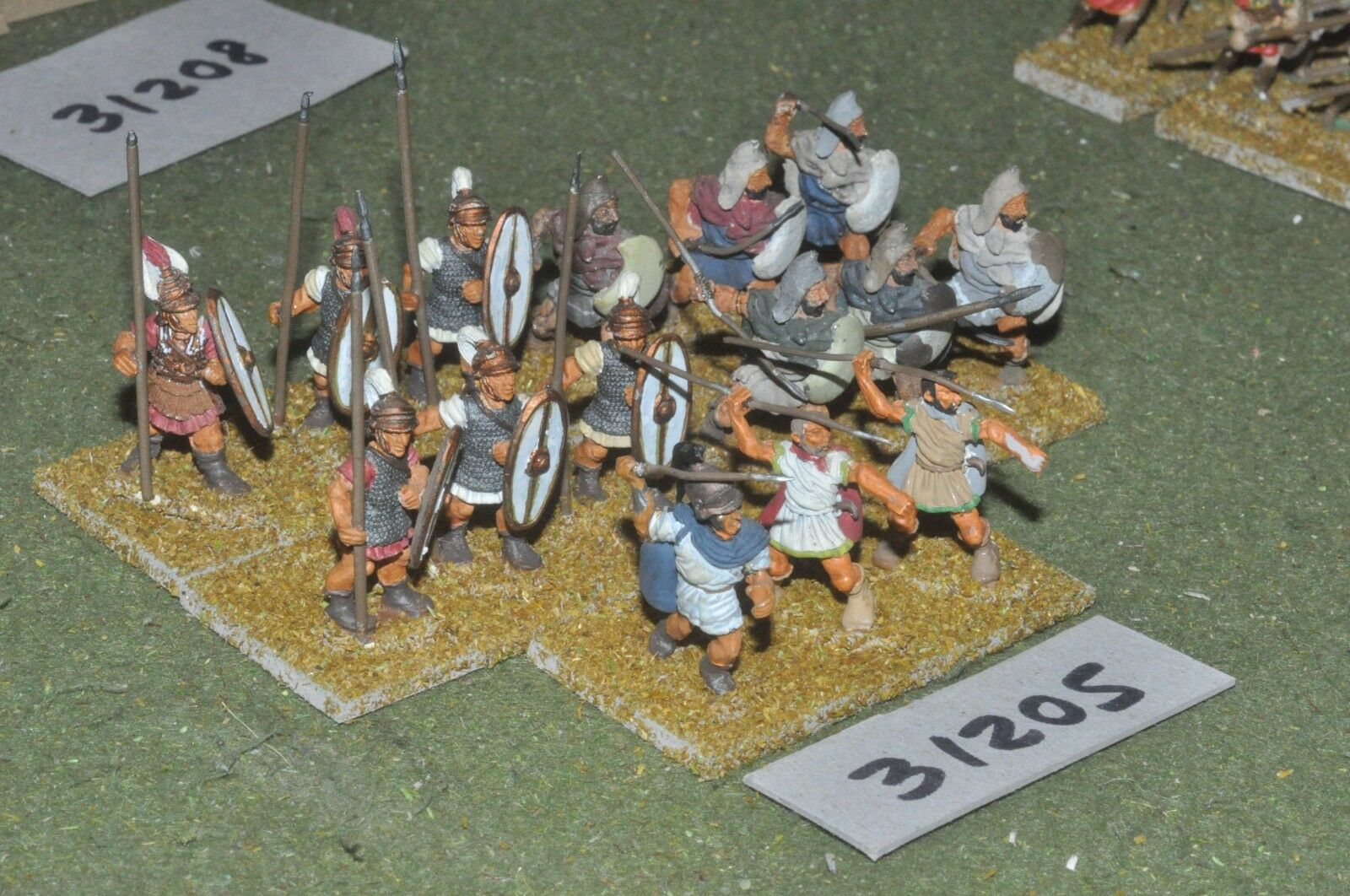 25mm classical   greek - peltasts 15 figures - inf (31205)