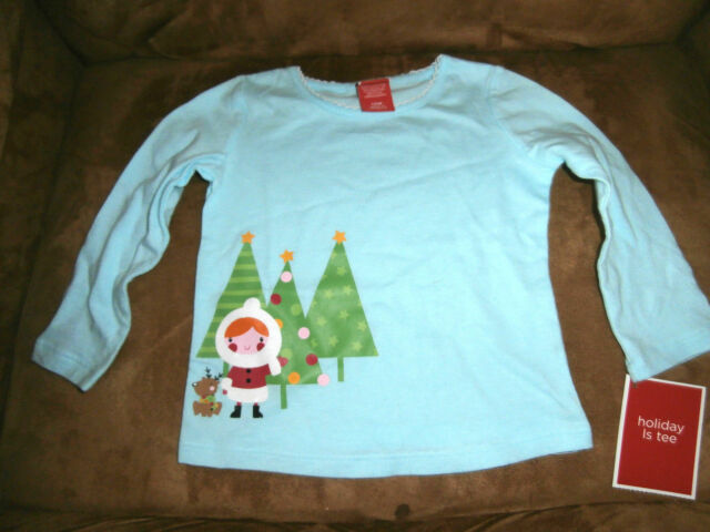 a1d9c01ea4 Infant Baby Girls Holiday Christmas Long Sleeve T-Shirt Target 12 Months Tee  NWT