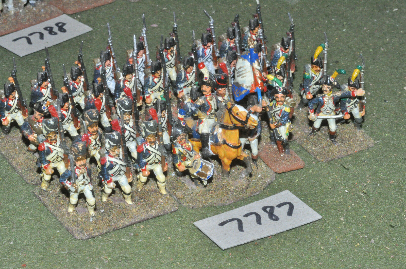 25mm napoleonic   french - revolutionary war infantry 35 figs metal - inf (7787)