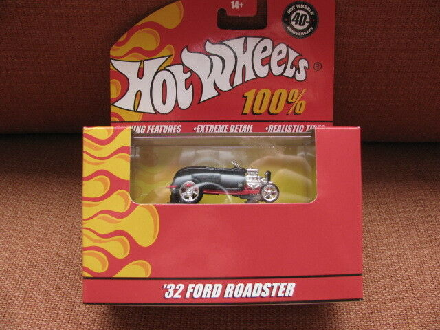100% 100% 100% hot wheels '32 FORD ROADSTER 40th annv. hotwheels diecast 7bbf64