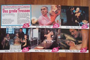 6 Aushangfotos Das Große Fressen Mastroianni Picolli Noiret u. Andrea Ferreol