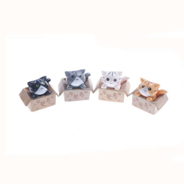 Mini Cat Pet Statue Garden Ornament Miniature Figurine Resin Fairy Popular SP