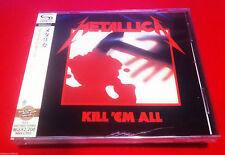 METALLICA - KILL'EM ALL - JAPAN JEWEL CASE SHM - FACTORY SEALED W/ CRACKED CASE