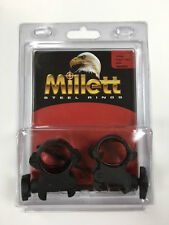 Millett 1 Medium Matte GRABBER Clam Riflescope Rings GB00002