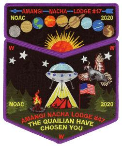 Boy-Scout-Order-of-the-Arrow-Amangi-Nacha-Lodge-47-OA-Flap-NOAC-2020-Patch-Set