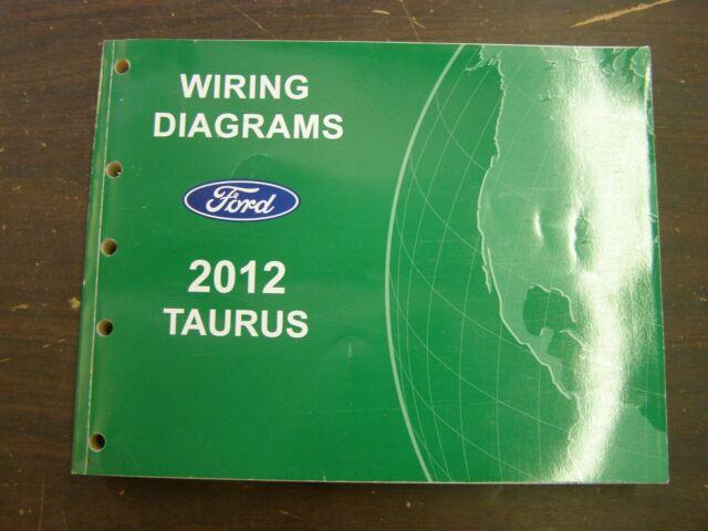 Oem Ford 2012 Taurus Shop Manual Wiring Diagram Book Nos