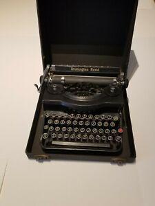 Remington Rand Model 1 Portable Typewriter | Original Case | 100% Working | Nice