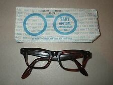 Authentic Tart Optical Mens Eyeglass Frame Boeing Amber size 44-20 - NOS