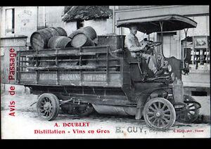 DORMANS-51-CAMION-de-LIVRAISON-DISTILLERIE-034-DISTILLATION-amp-VINS-A-DOUBLET-034