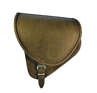 HARLEY DAVIDSON SOFTAIL BROWN LEATHER SADDLE BAG SWINGARM SIDE PANNIER BAG