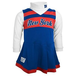 35bd64f1f New York NY Giants CHEERLEADER nfl NFLPA Dress Jersey TODDLER (2T ...