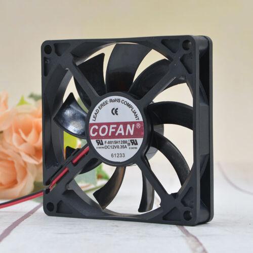 1PCS COFAN F-8015H12BII 12V 0.35A 8cm 2-wire chassis Large air volume fan
