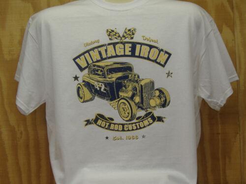 Hot Rod Vintage Iron Rat Rod coton Voiture T-shirt Tailles S à XXXXXL