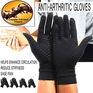 Copper-Compression-Arthritis-Gloves-Full-Finger-Hand-Support-Brace-Pain-Relief